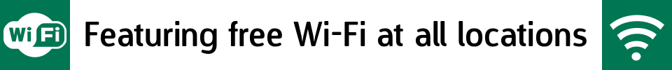 Featuring free Wi-Fi at all locations